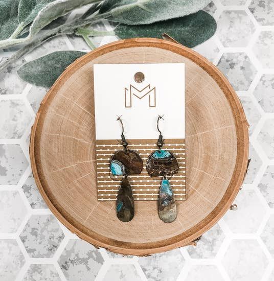 Dasha Copper Earrings - BOMSHELL BOUTIQUE