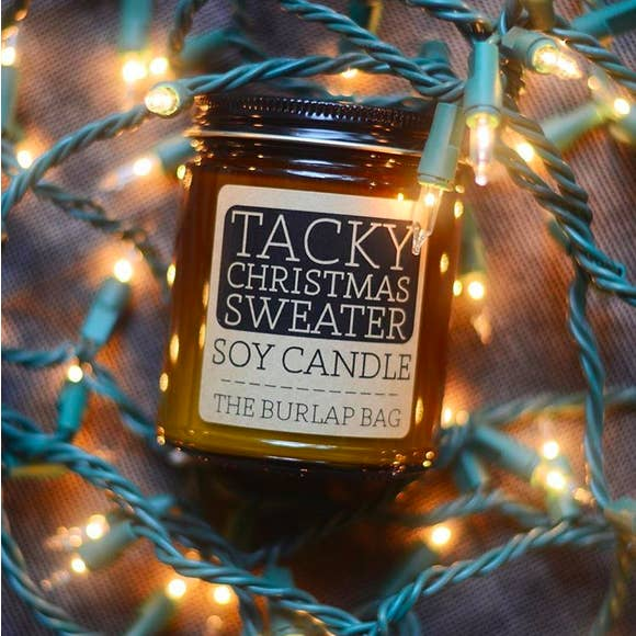 Tacky Christmas Sweater Soy Candle by The Burlap Bag - BOMSHELL BOUTIQUE