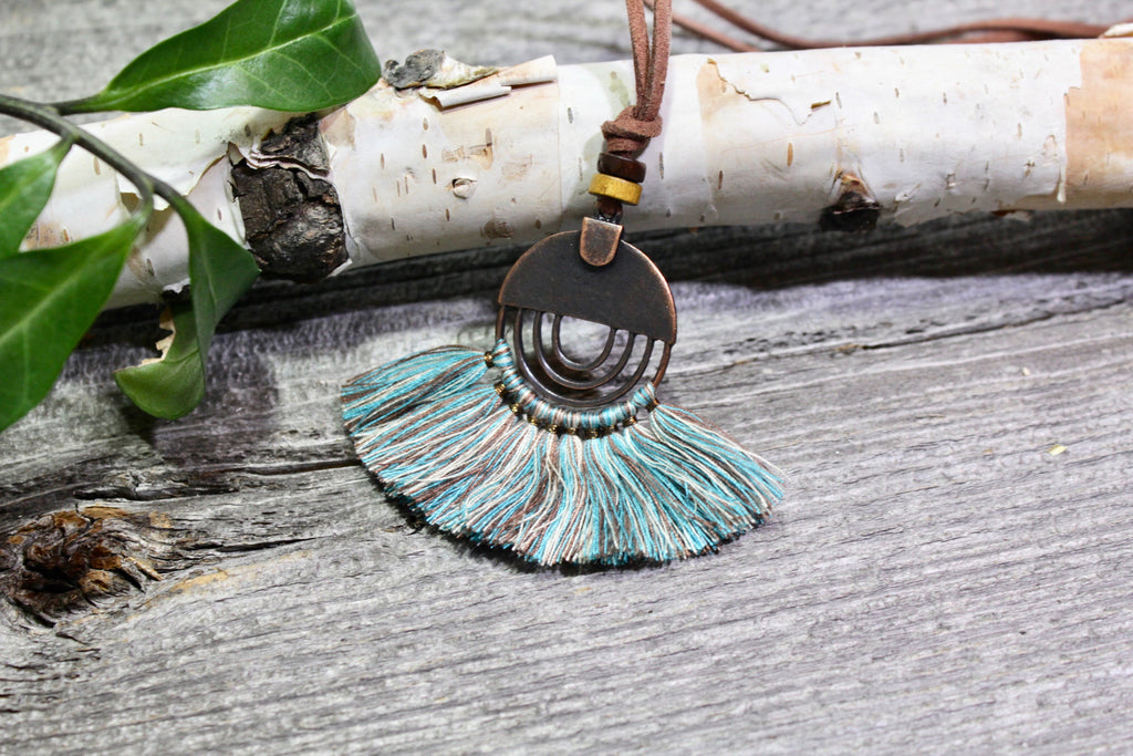 Beautifull Boundaries - Rustica Boho Necklace - Turquoise - BOMSHELL BOUTIQUE