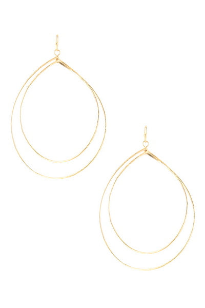 Double Layer Teardrop Earring - BOMSHELL BOUTIQUE