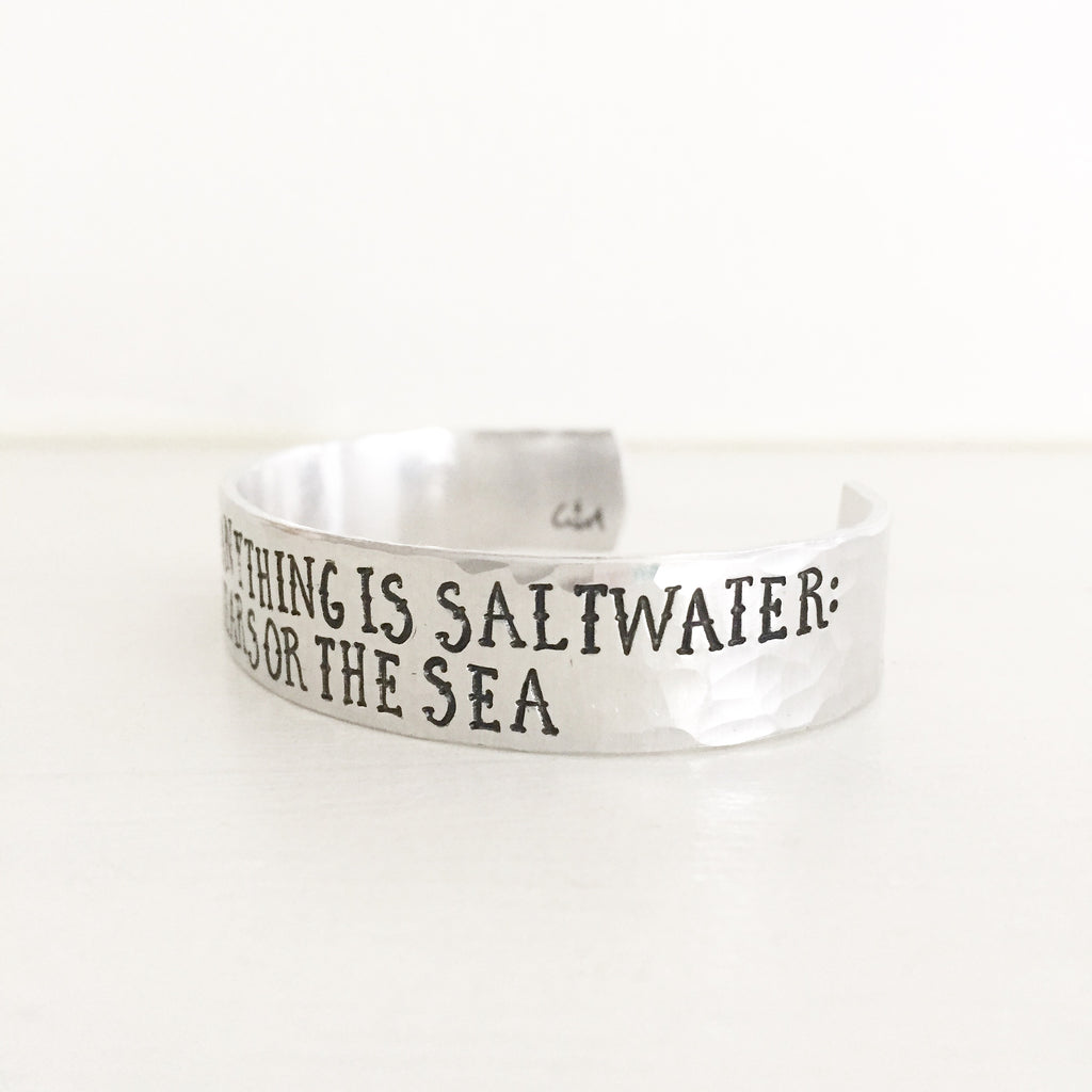 The Cure for Anything is Saltwater: Sweat, Tears or the Sea Cuff