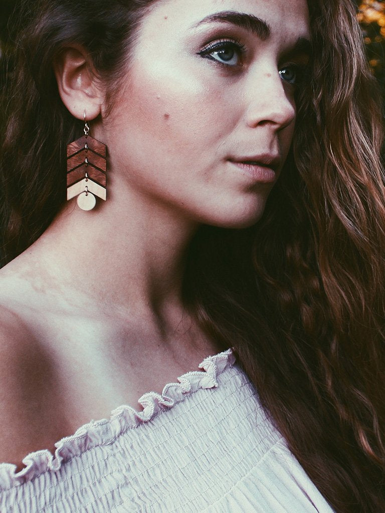 Co Kind Jewelry - Ball & Arrow Earrings - BOMSHELL BOUTIQUE