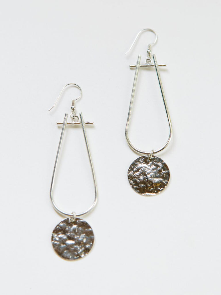 Sun Drop Silver Earrings - BOMSHELL BOUTIQUE