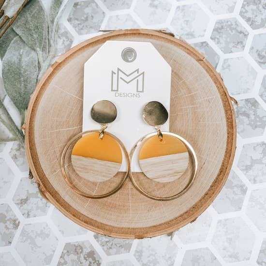 Tina Earring - Mustard - BOMSHELL BOUTIQUE