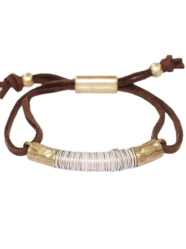 Suede and Metal Bracelet - BOMSHELL BOUTIQUE