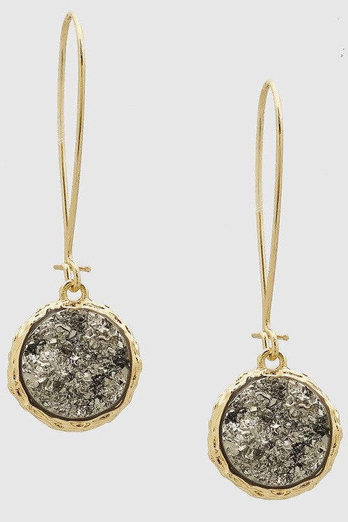 Druzy Drop Earrings - BOMSHELL BOUTIQUE