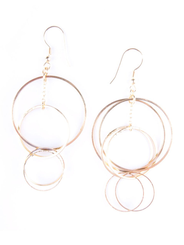 Mata Traders - Loop Di Loop Gold Earrings