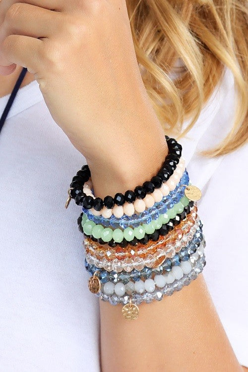 Crystal Beaded Bracelet - BOMSHELL BOUTIQUE