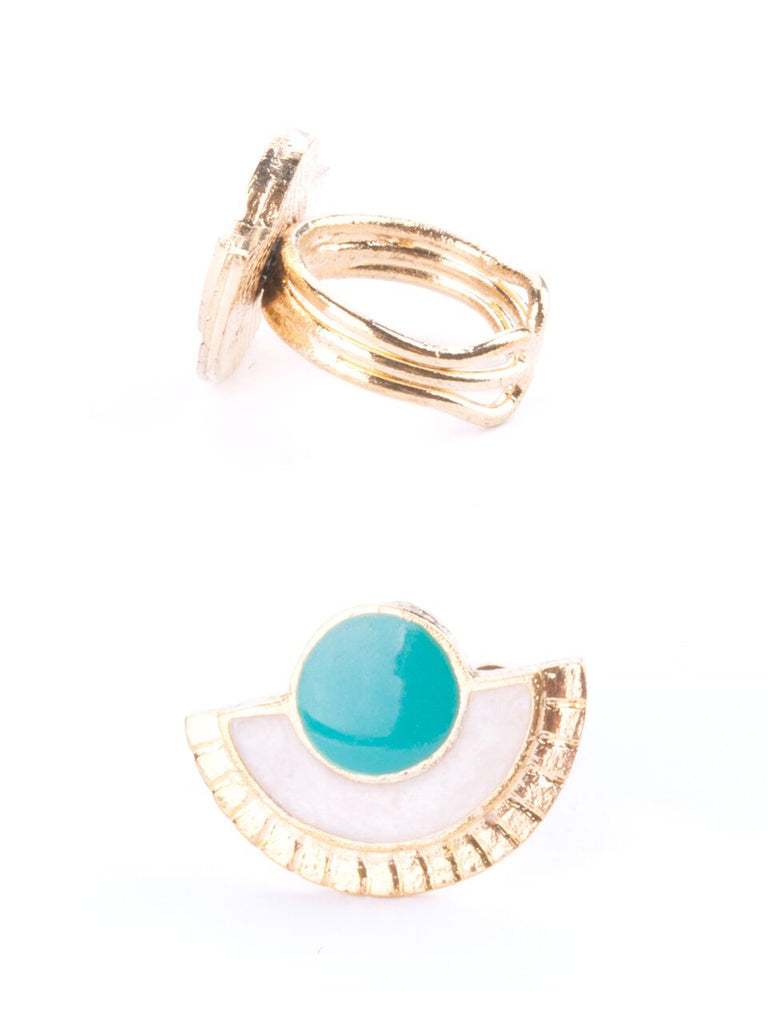 Mata Jewelry - Santa Fe Ring Turquoise - BOMSHELL BOUTIQUE