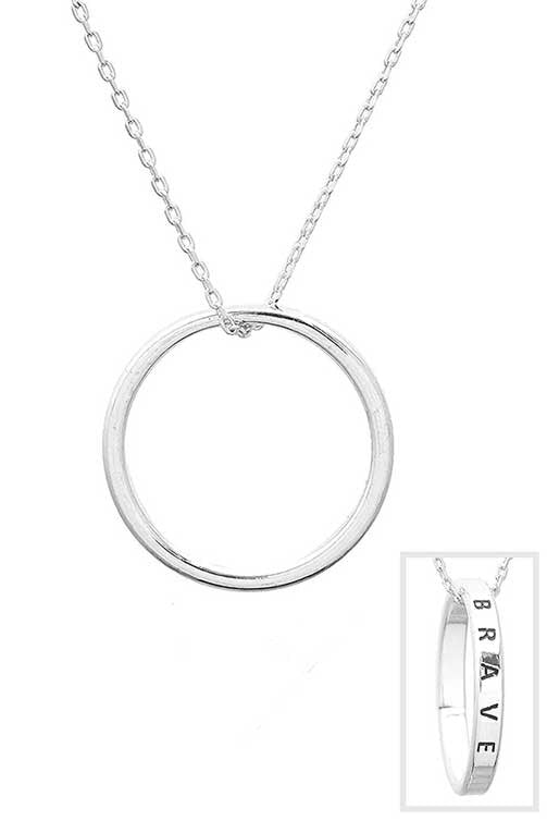 """Brave"" Ring Necklace"