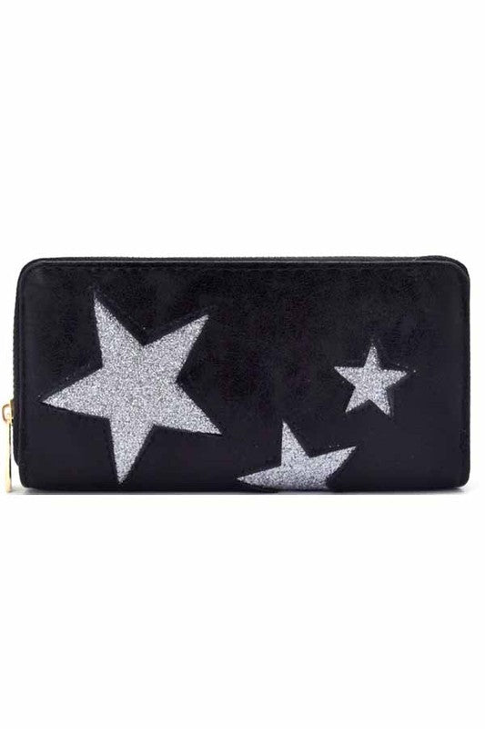 Star Wallet in Black - BOMSHELL BOUTIQUE