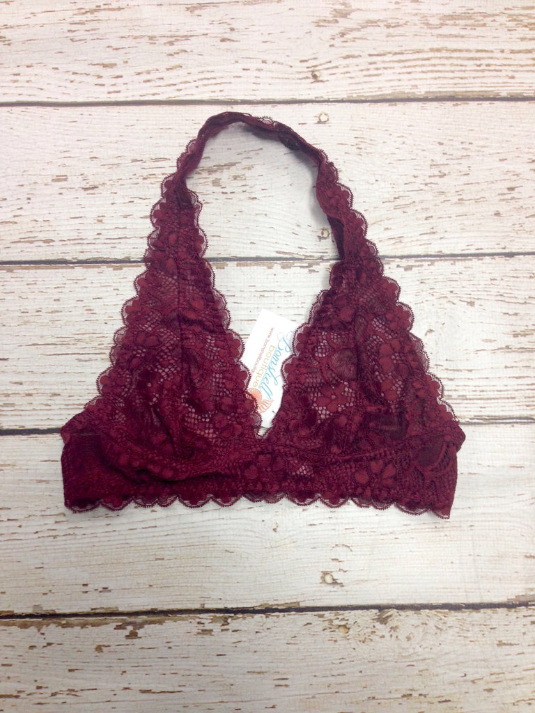 Lace Bralette in Burgundy - BOMSHELL BOUTIQUE