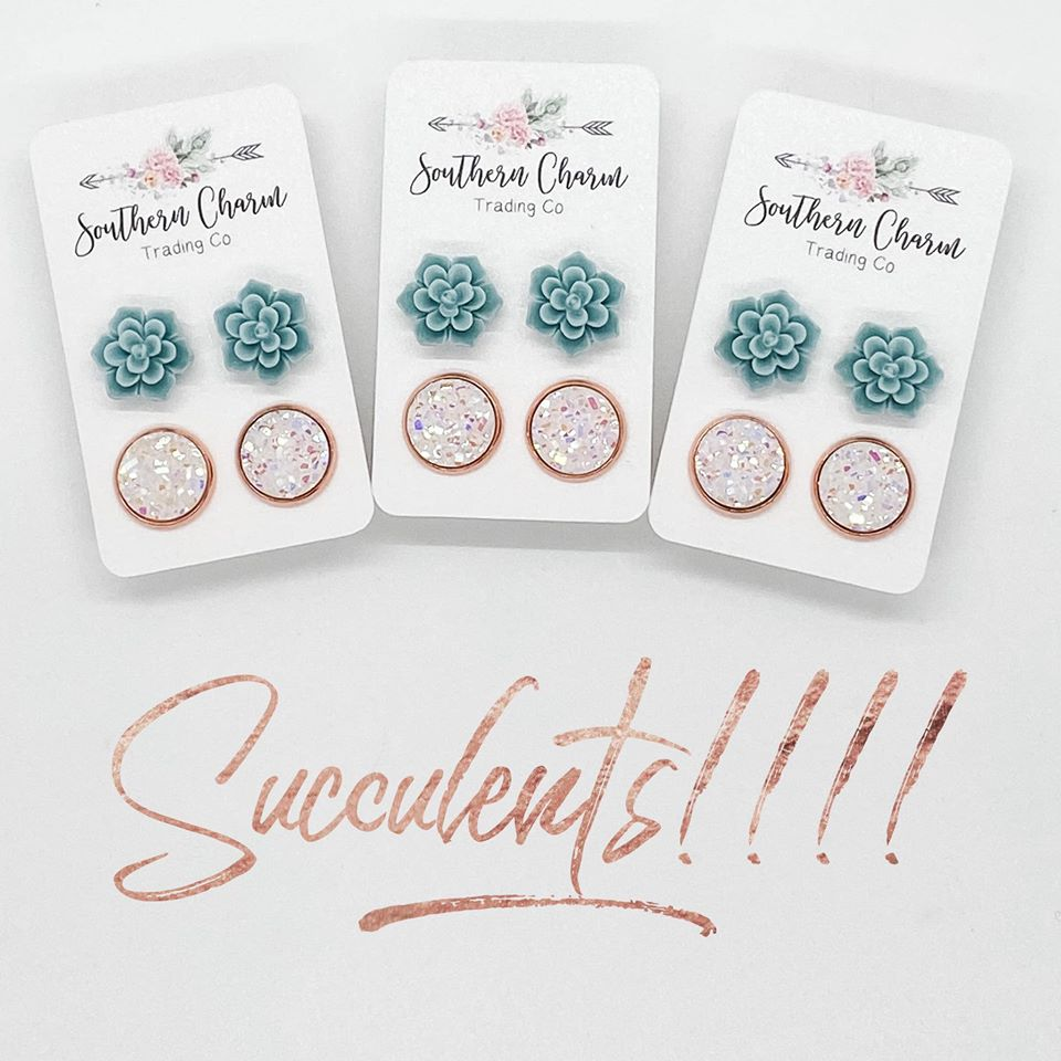 Succelent Set Earrings
