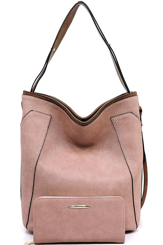Sunny Soul Hobo Bag in Blush - BOMSHELL BOUTIQUE