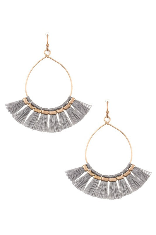 Vivie Fringe Tassel Earrings
