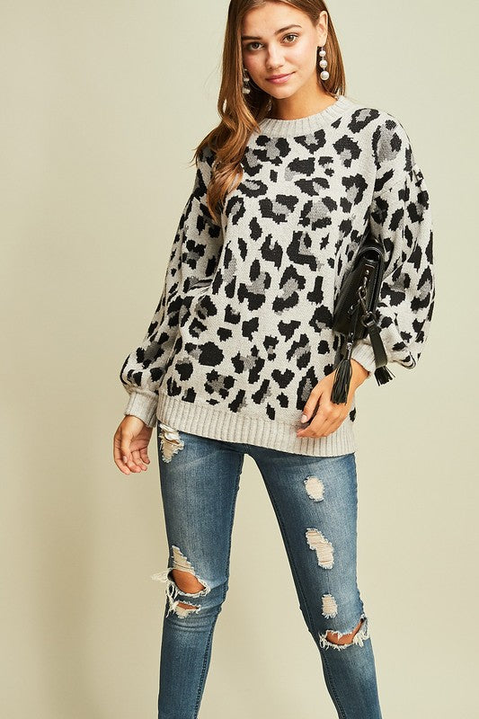 Leopard Pullover Sweater - BOMSHELL BOUTIQUE