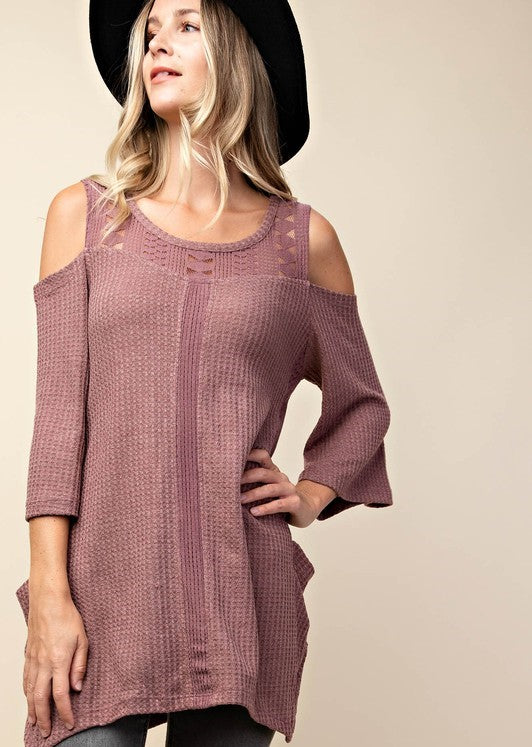 Lovers Thermal Tunic in Mauve