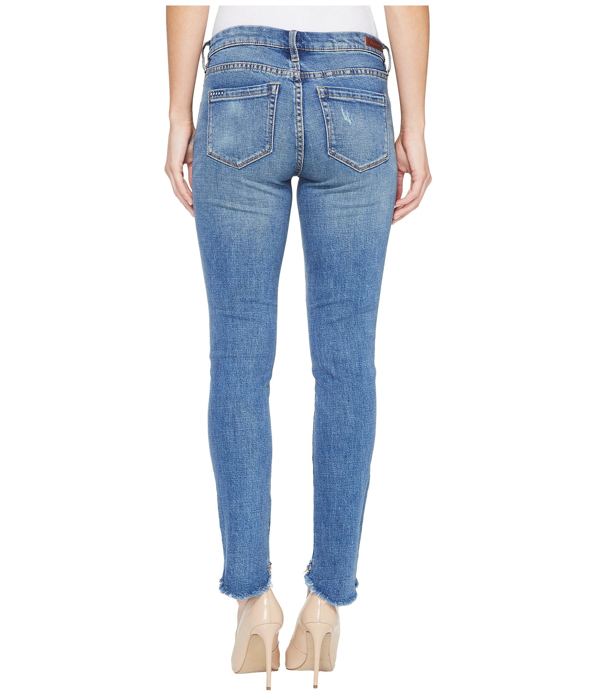 Blank Crop Jeans in App Happy