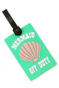 Mermaid Off Duty Luggage Tag