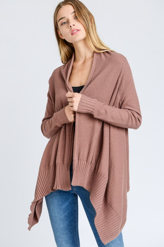 Heidi Cardi in Mauve - BOMSHELL BOUTIQUE