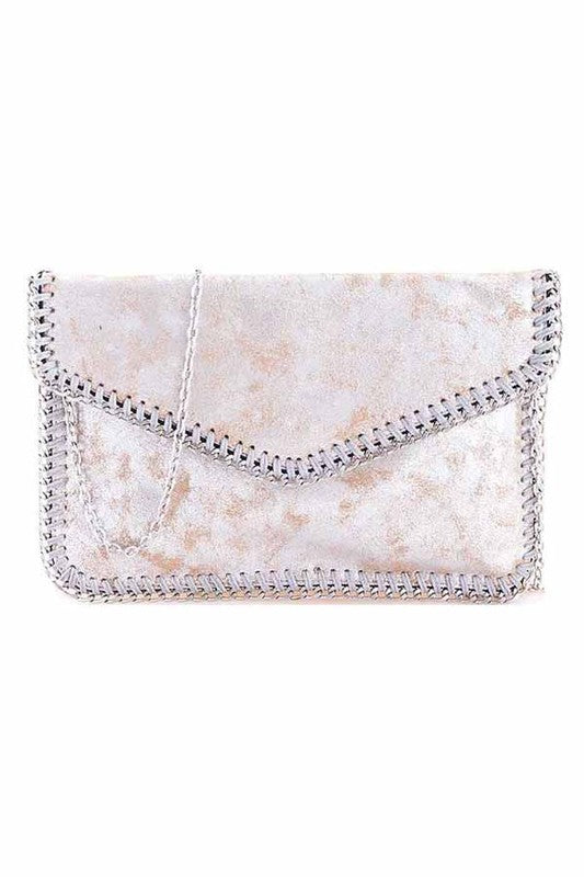 Charlie Purse in Silver - BOMSHELL BOUTIQUE