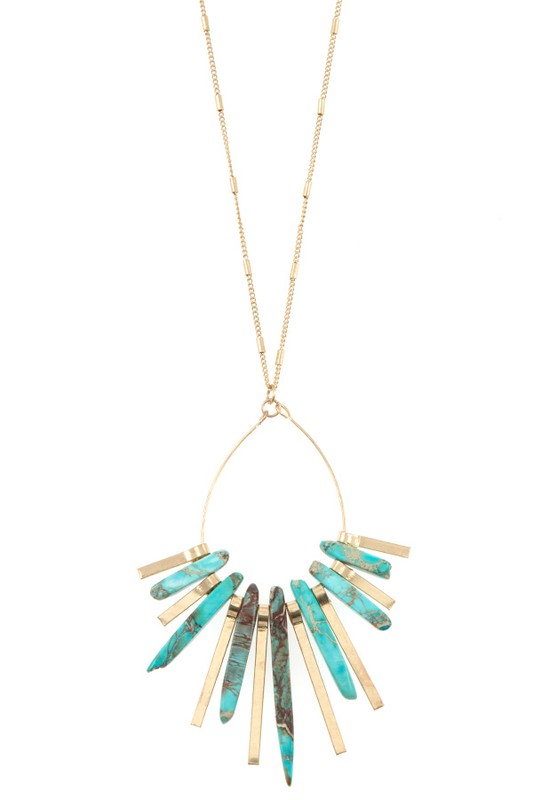 Lacie Necklace - Blue