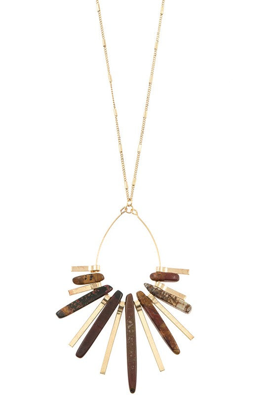Lacie Necklace - Brown