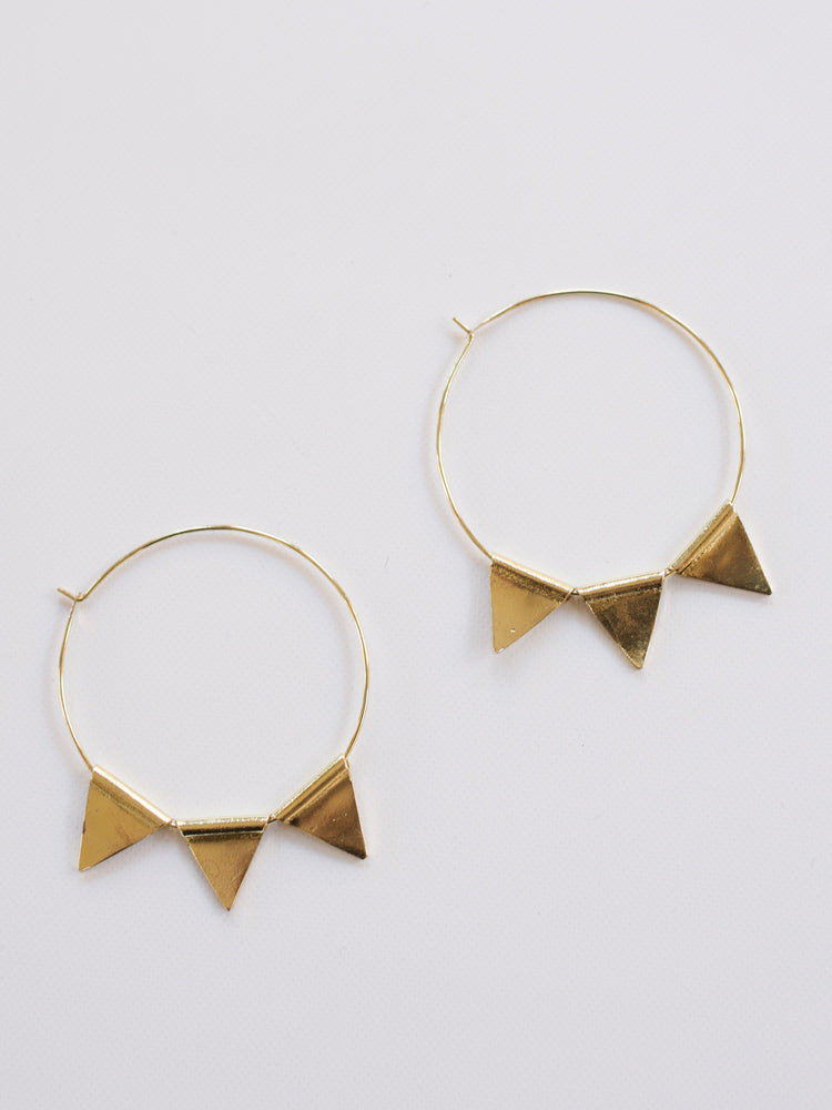 Mata Traders - Abaco Hoop Gold Earrings - BOMSHELL BOUTIQUE