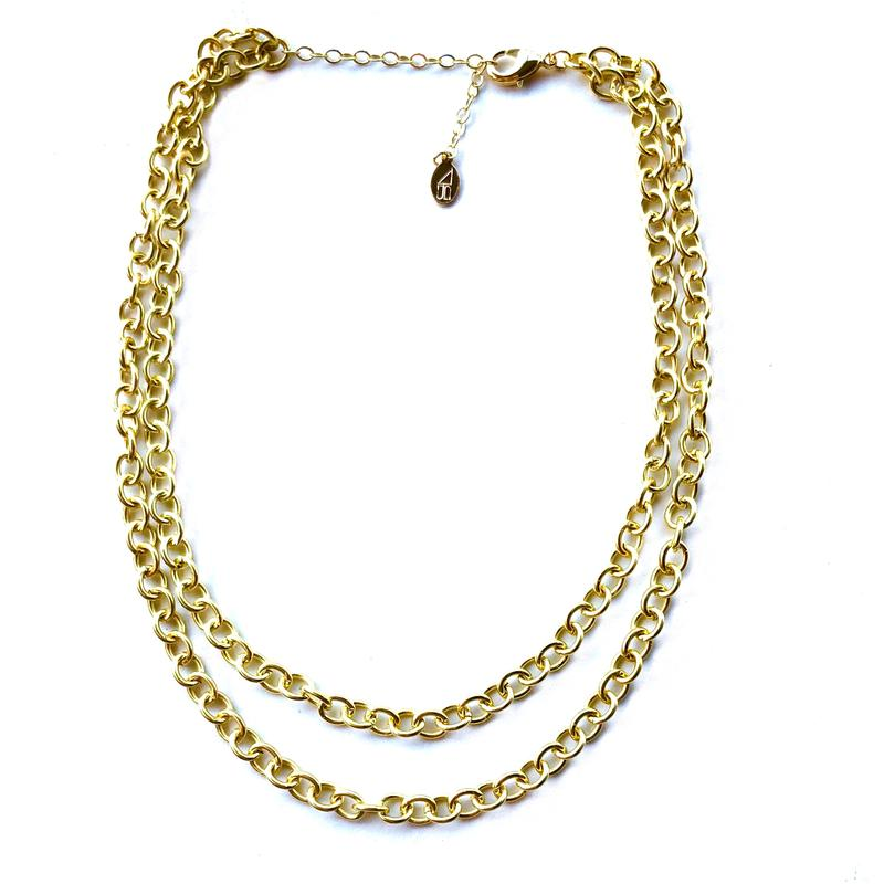 Ella Double Chain Necklace - BOMSHELL BOUTIQUE