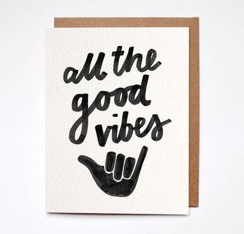 Good Vibes Card - BOMSHELL BOUTIQUE