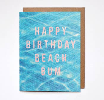 Happy Birthday Beach Bum Card - BOMSHELL BOUTIQUE