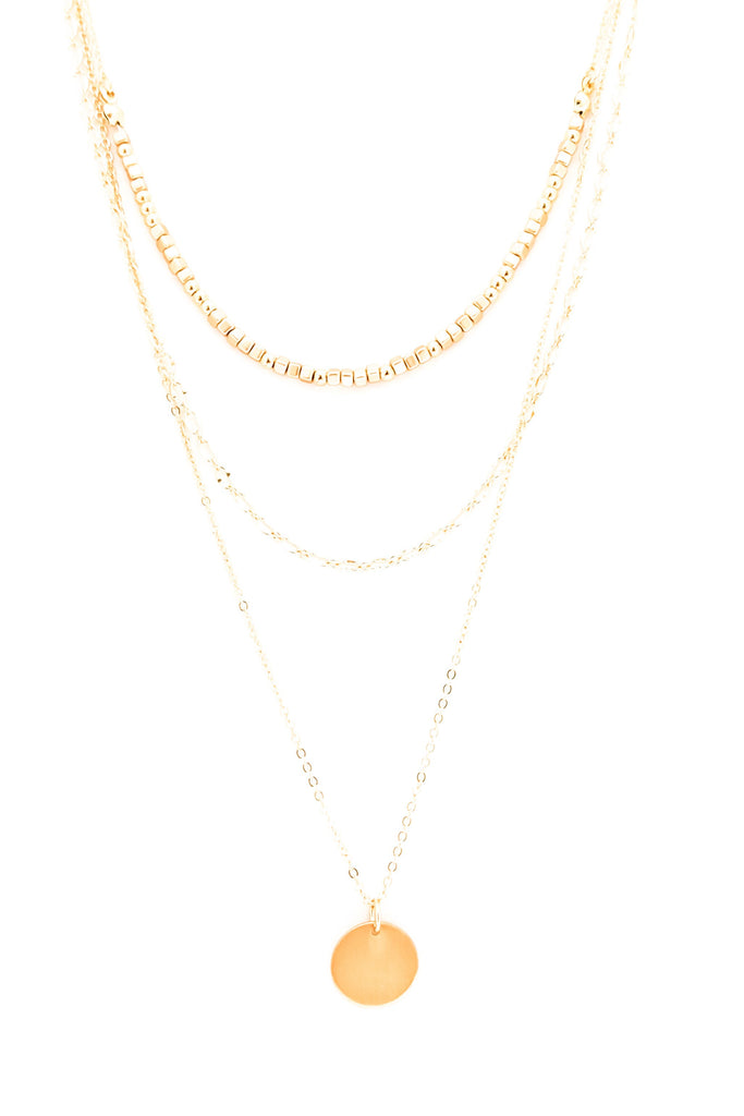 Lidia Necklace-GOLD - BOMSHELL BOUTIQUE