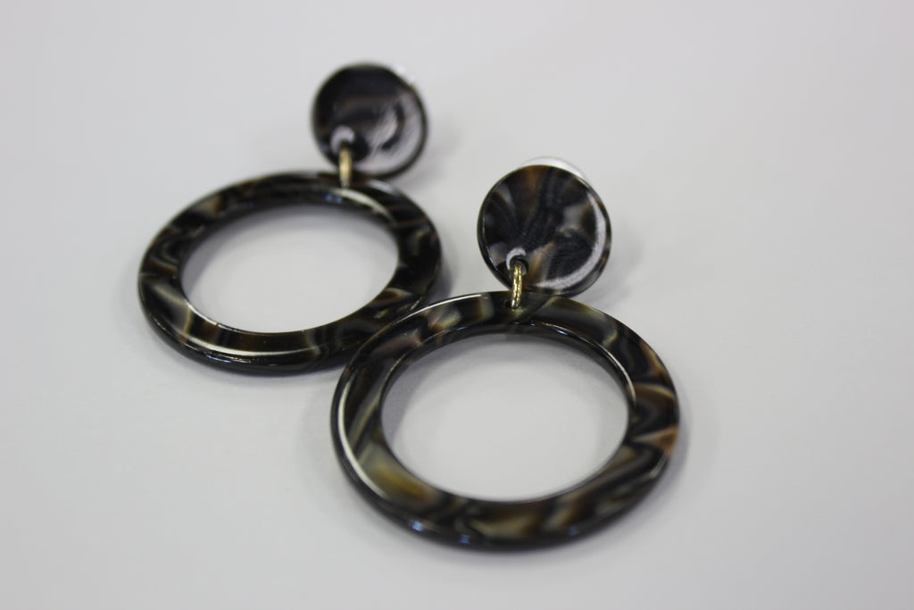 Double Circle Tortoise Earring