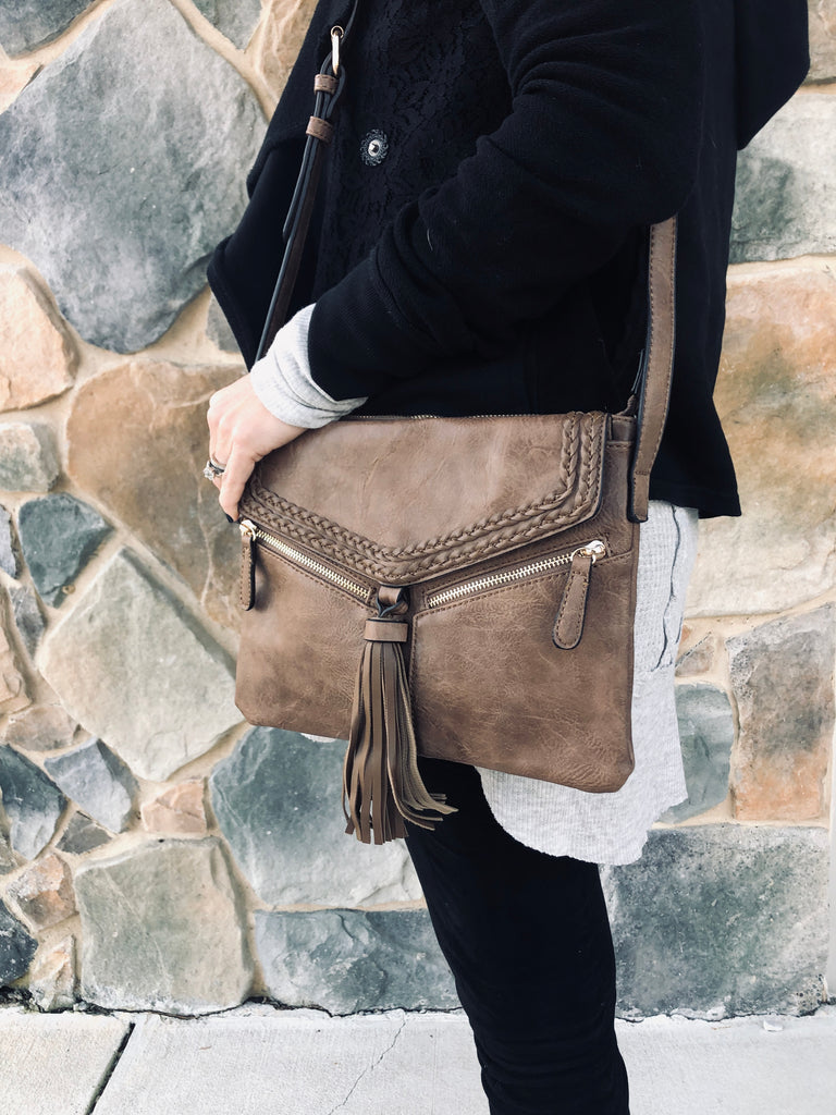 Becky purse in Stone - BOMSHELL BOUTIQUE