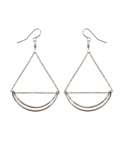 Lunette Earrings in Silver by Purpose
