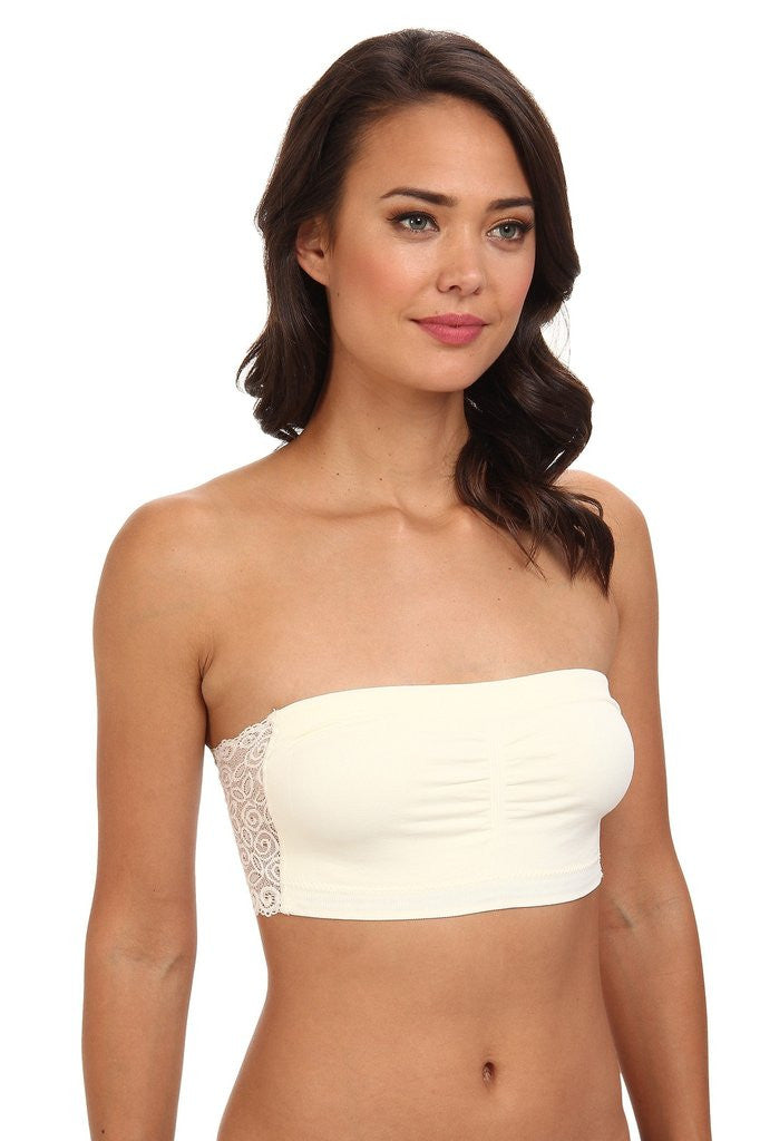 Lace Back Bandeau - BOMSHELL BOUTIQUE