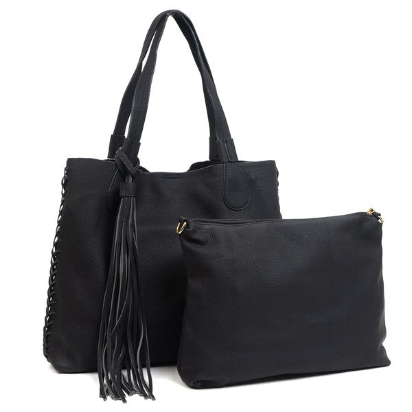 Macy Tote 2 in 1 Tassel Bag