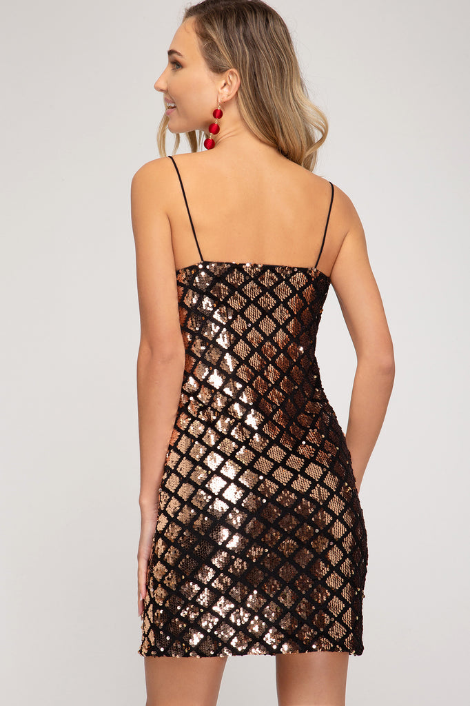 Vegas Nights Sequin Dress - BOMSHELL BOUTIQUE