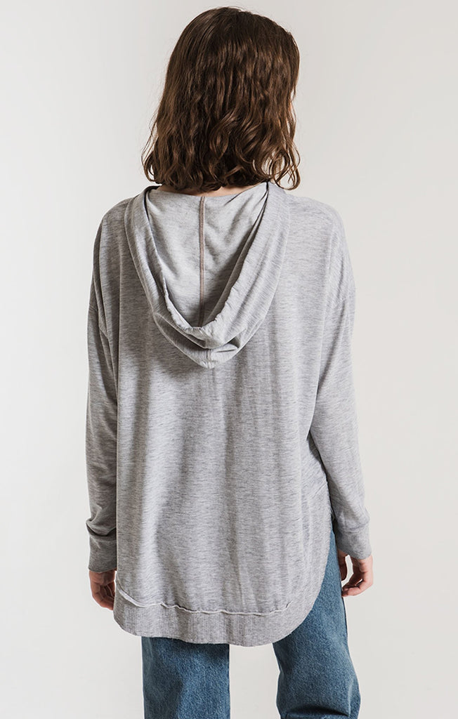 Dakota Pullover in Heather Grey - BOMSHELL BOUTIQUE