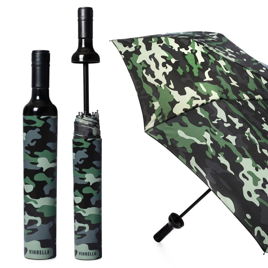 Wine Bottle Umbrella-Camo - BOMSHELL BOUTIQUE