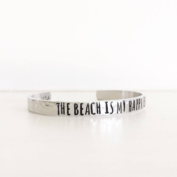 The Beach Is My Happy Place  Cuff