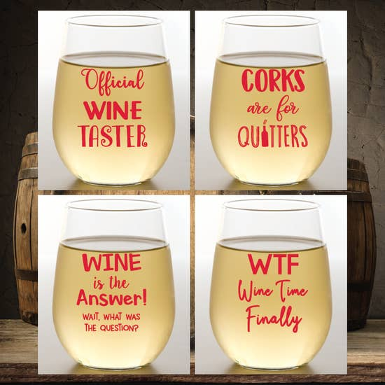 WINE OH 2PK- Wine Sayings