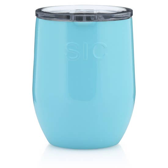 16 oz Stemless Seafoam Blue
