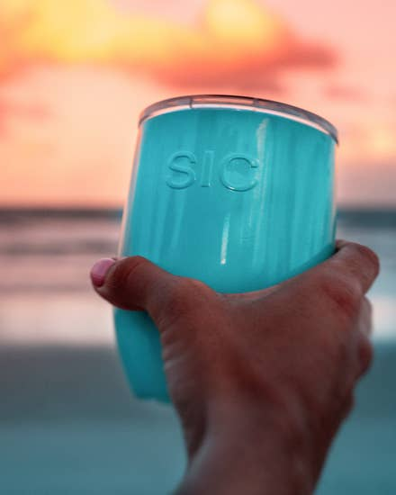16 oz Stemless Seafoam Blue - BOMSHELL BOUTIQUE