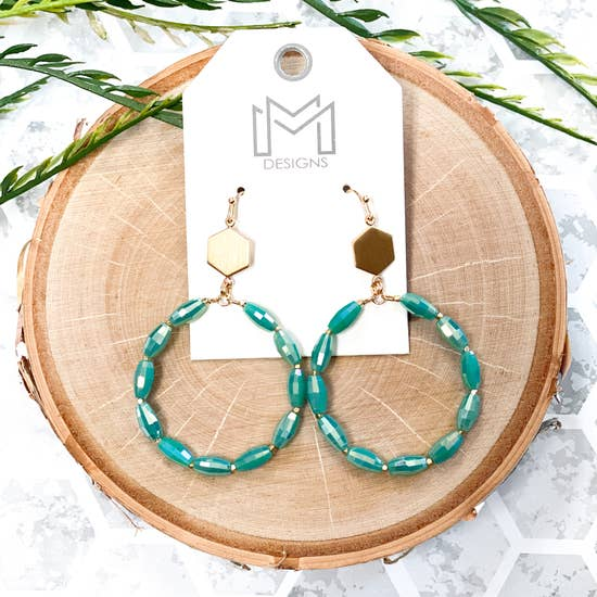 Trently Earrings - Turquoise - BOMSHELL BOUTIQUE
