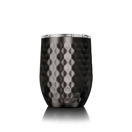 16 oz. Hammered Gunmetal Stemless SIC - BOMSHELL BOUTIQUE