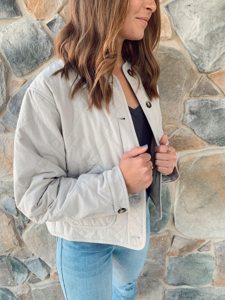 Quinn Button Down Jacket - BOMSHELL BOUTIQUE