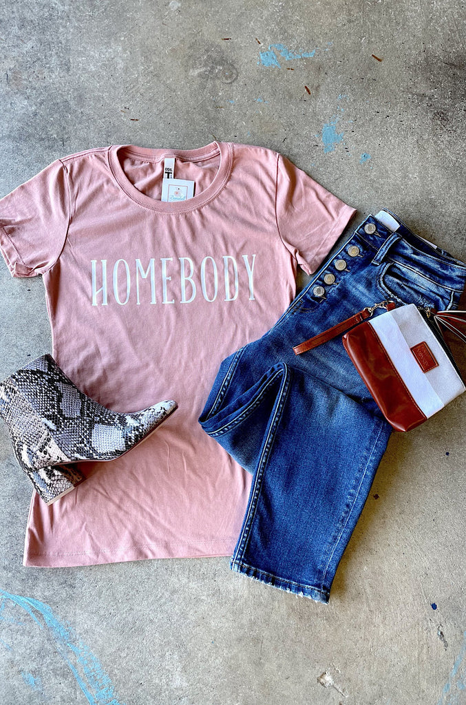 Homebody T-shirt: Pink