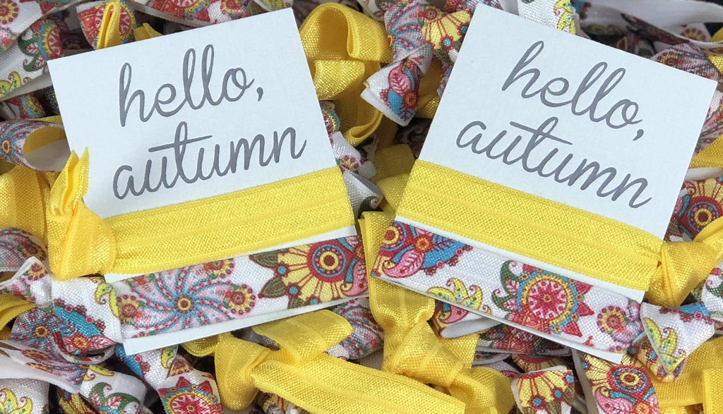 Hello Autumn Hair Tie Set - BOMSHELL BOUTIQUE