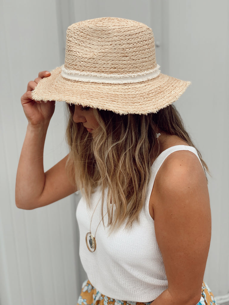 Sierra Sun Hat- Cream trim